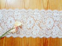 american garden chairs - 27 cm Jacquard Lace Wedding Chair Sashes Bows Table Runners Tablecloths New Classic Pastorale Home Garden Party Event Decoration