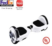 Wholesale Global unique inch APP Cellphone Controlled Wheels Self Balance Electric Hoverboard UL2272