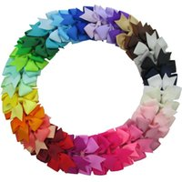 Wholesale 40Colors Grosgrain Ribbon Boutique Hair Bows for Teens Baby Girls Babies Toddlers Grosgrain Ribbon and Clip Girls Hair Accessories DHL