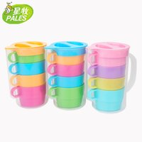 Wholesale colored plastic portable big cup capacity cup set Water Bottles hot sale outside picnic household high quality