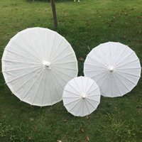 Wholesale New white paper parasols Chinese craft umbrellas Children and bridal wedding parasols Diameter inches inches and inches
