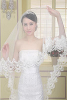 Wholesale 2016 One Layer Bridal Veils Real Photos Wedding Veil Long Lace Mantilla Bridal Veil Wedding Accessories