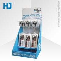 custom design jewelry - Custom Design Cardboard Countertop Display with Plastic Hooks for Phone Accessories