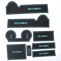 Wholesale 8pcs Lancer ex Anti slip Waterproof Anti fire Car Interior Door Rubber Non slip Cup Mat Holder Gate Slot Pad for Mitsubishi