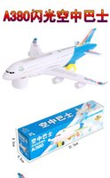 Plastic air bus plane - Flash electric aircraft model air bus With music and light children electric vehicle toys airplane model