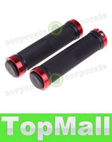 Wholesale LAI NEW Pair Rubber Mountain Bike MTB BMX Bicycle Cycling Double Lock Handlebar Grips Red Silver Golden Blue Black