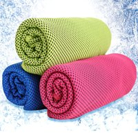 Wholesale Handle Towel Cool Towel Summer Sports Ice Cooling Towel Double Color Hypothermia Cool Towel For Sports Children Adult