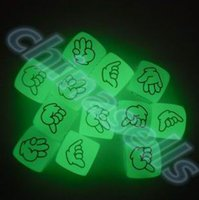 Wholesale hot Noctilucent drinking Mora Dice Cubes Side mm Night Light luminous Toy Fun Board Game Night Bar KTV Entertainment Game Dice
