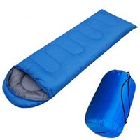 Wholesale outdoor camping envelope style hooded thin hollow cotton sleeping bag multicolor g