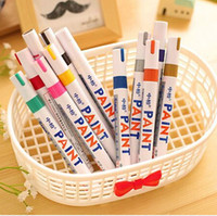 Wholesale 12 Hot Sale School Stationery High Quality Permanent Marker Pen Colorful Paint Pen School Office Supplies