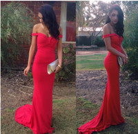 african maternity dresses - 2016 Cheap Red Elegant Mermaid Long Evening Dresses Off Shoulder Sexy African Prom Dresses Under