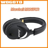 Wholesale Marshall Monitor foldable headphones with MIC Leather Noise Cancelling Deep Bass Stereo Monitor DJ Hi Fi Headphones Headset fast shipping