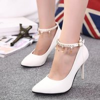 Wholesale women luxury fashion sexy high heel leather Bowtie Rhinestone dress shoes b132