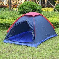 Wholesale Two Person Outdoor Camping Tent Kit Fiberglass Pole Water Resistance with Carry Bag for Hiking Traveling