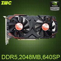 Wholesale GTX750ti to enhance the high frequency version of D5 G desktop independent game graphics cards Desktop PC games