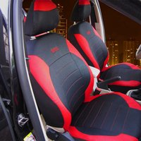 Wholesale Universal Litchi grain Imitation Leather Car Seat Cover Car Protector Seat Covers Classic Exquisite Red Black Full set Car Styling