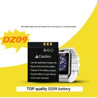 Wholesale 100 Original DZ09 smartwatch Battery mAh for DZ09 Smart Watch Wearable replacement Polymer rechargeable battery Accessories in stock