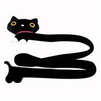 Wholesale EQA613 Cute Black Animal Cat Wire PC Cable Cord Management Tie Wrap Clip Organizer