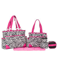 animal outings - 6 Pieces A Fashion Zebra Mommy Bag Top Quality Family Outing Necessity Microfiber Travel Baby Wet Bag Nappy Bag