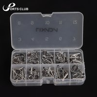 Wholesale 80Pcs Fishing Rod Guide Guides Tip Set Repair Kit DIY Eye Rings Different Size Stainless Steel Frames with Fish Box