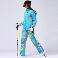 Wholesale new high quality women s Pizex outdoor winter ski suit windproof ski mountaineering Warm jackets pants