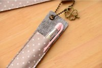 Wholesale Lovely Polka Dot Floral Pattern A4 pouch IPAD Holder bag case paper canvas cloth cute file folder pencil case pasta
