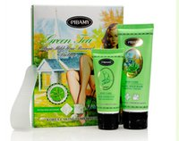 Wholesale Green Tea Depilatory Creams Permanent Hair Removal Kit Skin Care Body Legs Arms and Bikini For Woman