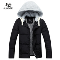 Wholesale Fall new arrival mens winter warm downs jacket argyle casual fashion down coat Outdoor brand Thick cotton hat confortable