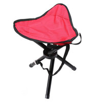 Wholesale Bearing KG Portable Hiking Camping Three legged Folding Stool Outdoor Picnic Barbecue Small Seat Oxford Aluminum Family Travel Furniture