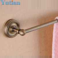 Wholesale HOT SELLING Antique Brass Bathroom towel holder Single towel bar with ceramic cm solid brass towel rack with YT