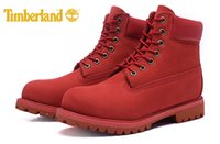 Wholesale Classic Leather Boots For Men - Original Fashion Brand New Classic Timberland 10061 6-Inch Premium Boots For Men outdoor Waterproof Red boots size 40-45