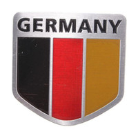 Wholesale 2015 New Car Aluminum German Germany Flag Shield Emblem Badge Truck Auto Decals Sticker