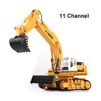 advanced gift boxes - 11 channel rc excavator Advanced remote control excavator vehicle Charging set electric engineering vehicles Most gift