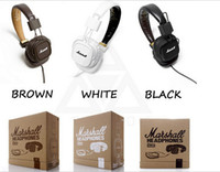 bass professional - Genuine Marshall Major headphones With Mic Deep Bass DJ Hi Fi Headphone HiFi Headset Professional DJ Monitor Headphone