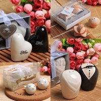 Wholesale DHL Fedex Wedding Supplies favor wedding gift quot Mr Mrs quot Pepper Shakers Event Party Favors and gift pairs L35