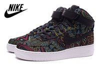 Cheap Nike Air Force 1 High BHM Air Force 1 Mens Skete Shoes Breathable Mesh Men Running Shoes 100% Original New Black History Month AF1 Sneakers