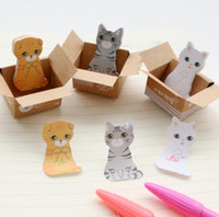 adhesive note pads - 20 sets Bookmark Mark Tab Memo Sticky Notes Cute Cat Memo Pads Writing Supplies Papelaria