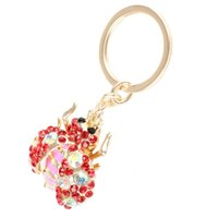 bags beatles - Hot Love Red Beatles Beetle Lovely Charm Pendant Rhinestone Crystal Purse Bag Key Chain Creative Gift