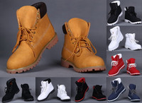 Wholesale Winter Snow Boot Fashion Yellow Red Waterproof Outdoor Work Boots Leather Hiking Shoes Leisure Ankle Boots For Men