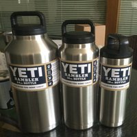Wholesale YETI oz oz oz Cup Rambler Vacuum Insulated Beer Cup Coolers Tumbler Sports Yeti Mugs Insulated Bilayer Stainless Steel Outdoor Bottle