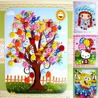 baby painting games - Children DIY handmade paste painting cartoon Puzzle Games for Children Baby Kids Educational Toys