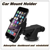 Wholesale Car Mount Holder Adsorption dashboard and windshield for iPhone s Plus s s c Samsung Galaxy S7 Edge S6 S5 Note