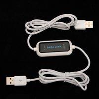 al por mayor usb to usb file transfer cable-1.65m Moda exhibición de LED de alta velocidad USB 2.0 Fácil de copia de PC USB Para PC de sincronización de datos Conexión de red de archivos en línea Compartir cable de transferencia directa