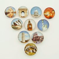 accessories sites - Hot sale Beauty NB0379 historical sites Mixed MM Photo Glass cabochon Ginger snap buttons for DIY ginger snap jewelry bracelet Accessories