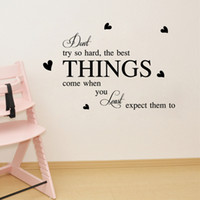 best small bathrooms - Don t Try so Hard the best things come when you least expect them to Wall Stickers Quote Inspiration Letters Home Decor Wall Poster Mural