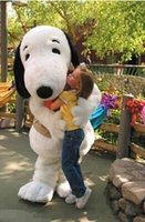 Wholesale Factory direct sale adult white plush snoopy dog mascot costumes fancy costumes drop shipping good quality