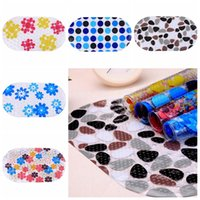 Wholesale PVC Non Slip Bath Mat Bathroom Toilet Kitchen Anti Skid Cobblestone Flower Cushion Bathroom Shower Floor Rug Pebble Color LJJP88