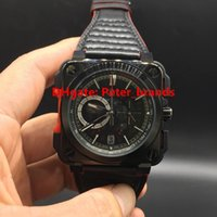 aviation leather - Luxury High Grade Quality AVIATION br Watch Skeleton Quartz Chronograph Men s full works BR X1 CE TI RED watches