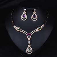 advance acrylics - European and American fashion jewelry exaggerated texture advanced alloy droplets clavicle pendant necklace dress accessories package