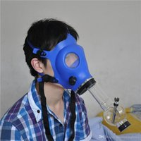 Wholesale 1pcs Silicon Mash Creative Acrylic Smoking Pipe Gas Mask Pipes Acrylic Bongs Tabacco Shisha Pipe